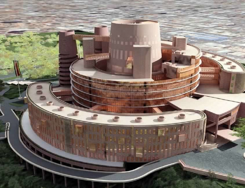 A model of Zimbabwe's new 650-seater parliament