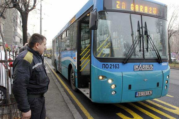 Autobus na liniji 56 u kojem se dogodio incident