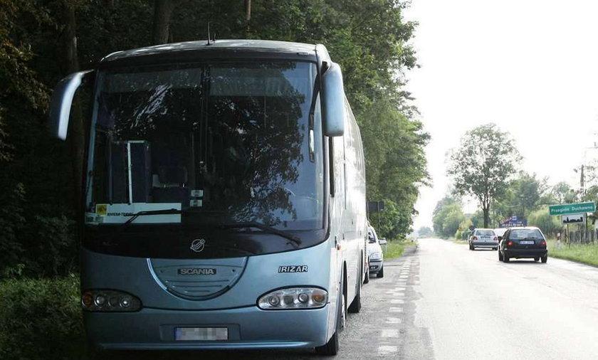 Wypadek autobusu pod Krakowem