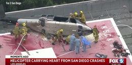 Chwile grozy w szpitalu. Rozbił się śmigłowiec transportujący serce do przeszczepu
