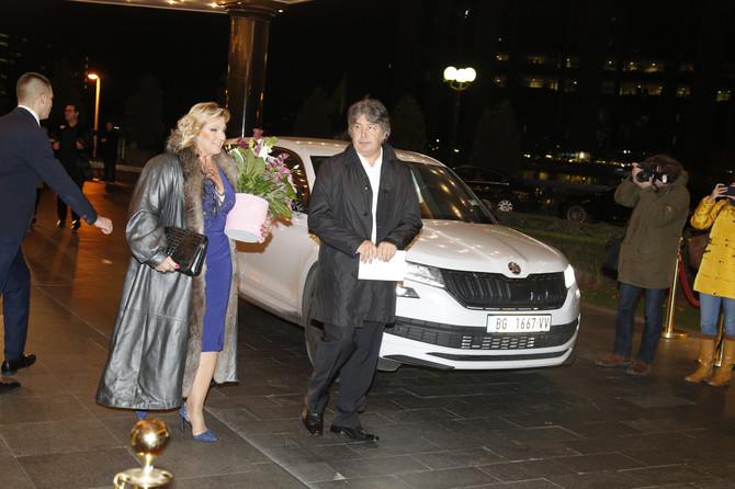 Snežana Đurišić sa suprugom