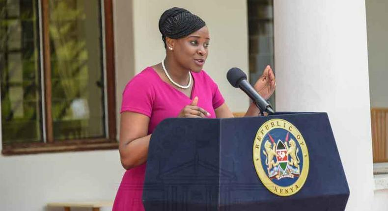 File image of State House Spokesperson Kanze Dena during a past media briefing