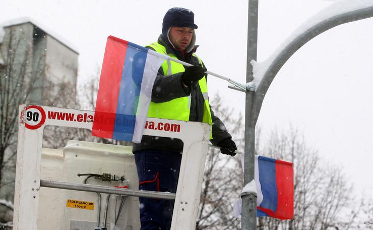 Banjaluka dan republike srpske postavljanje zastava