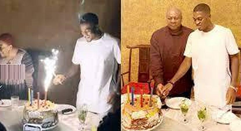 How Former President Mahama celebrated his footballer son, Sharaf's birthday with a lavish party