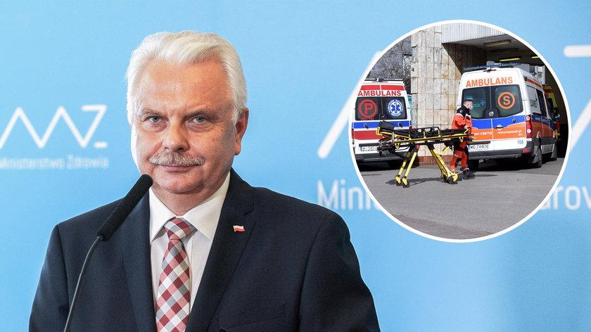 Waldemar Kraska zapowiedział, że pacjenci karetek będą testowani na COVID.