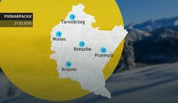 Prognoza pogody dla woj. podkarpackiego - 21.03