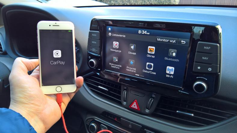 Hyundai I30 1.6 CRDI - tryb CarPlay