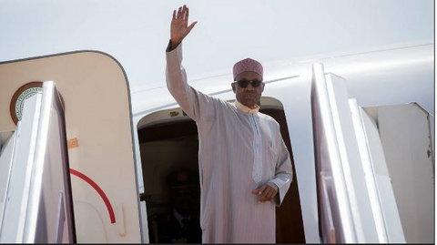 President Buhari is a frequent flyer to the UK [Presidency]