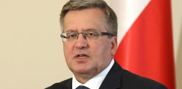 Prezydent Komorowski miał wypadek!