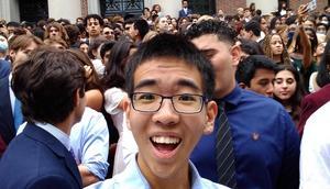 Harvard freshman Yuen Ler Chow on campus.