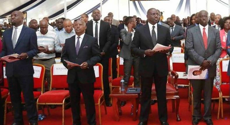 President Uhuru Kenyatta's Sh500k donation at burial of Martha Kirigo Gachagua angers Tanga Tanga MPs