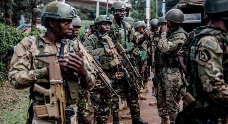 [FILE PHOTO] A section of the Recce Squad, an elite paramilitary unity of Kenya's General Service Unit.