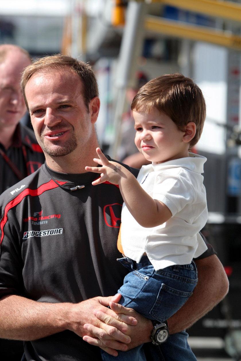 Rubens Barrichello z synem Eduardo