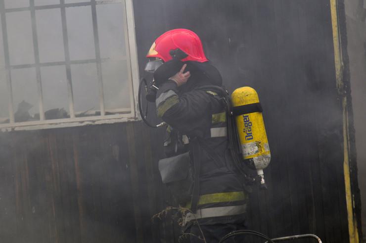 Novi Sad 207 pozar novo naselje vatra ulica momcila tapavice vatrogasci foto Robert Getel