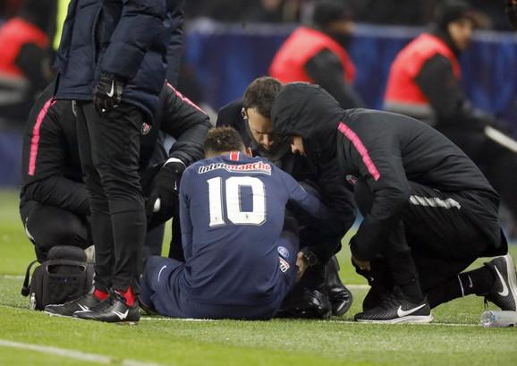 Nejmar je doživeo povredu na meču protiv Strazbura