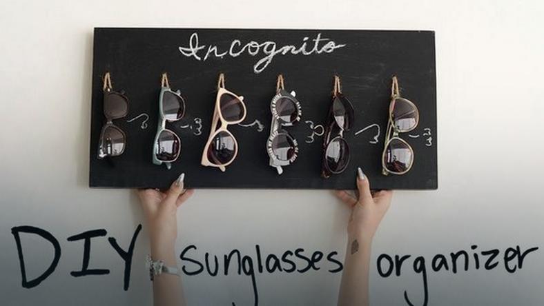 4ed6b431 Zrób samodzielnie oryginalny wieszak na okulary przeciwsłoneczne ...
