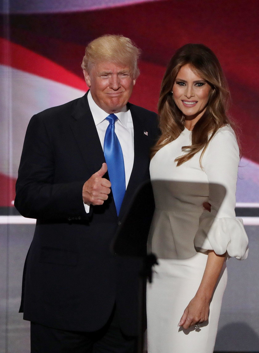 Donald Trump z żoną