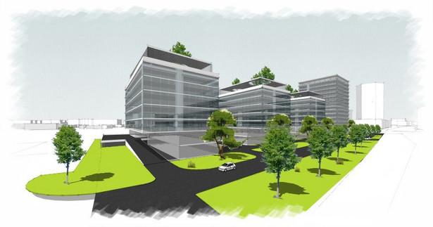 Centrum biurowe przy Dworcu Zachodnim - wizualizacja (2) (materiały prasowe)