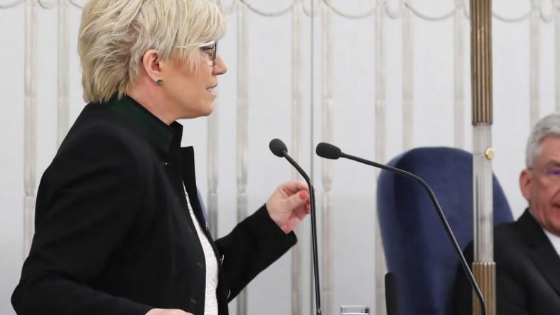 Pani prezes relacjonowała dziś w Senacie działania Trybunału Konstytucyjnego z 2017 roku...