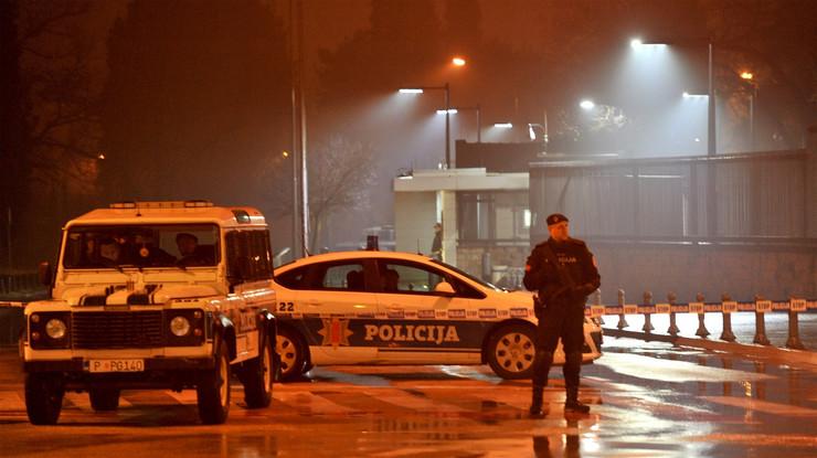 Policija na mestu napada