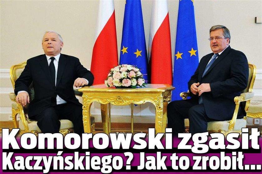Komorowski zgasił Kaczyńskiego? Jak to zrobił...