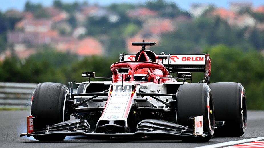 Robert Kubica w bolidzie Alfa Romeo