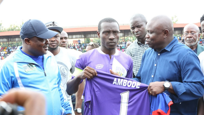 Image result for Weah, Drogba, Eto'o, Toure, Others Storm Lagos For Ambode Testimonial Match
