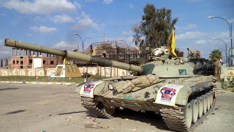 Iracki czołg w Tikricie