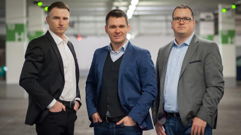 Założyciele Motabi: Robert Tomaszewski, Piotr Śmiałek i Rafał Hryniów