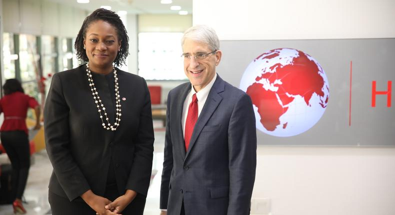 Prof. Peter Salovey meets Ifeyinwa Ugochukwu, the CEO of the Tony Elumelu Foundation