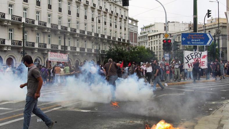 Zamieszki na ulicach Aten