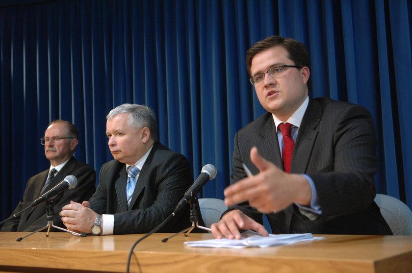 Jarosław Kaczyński i Michał Krupiński