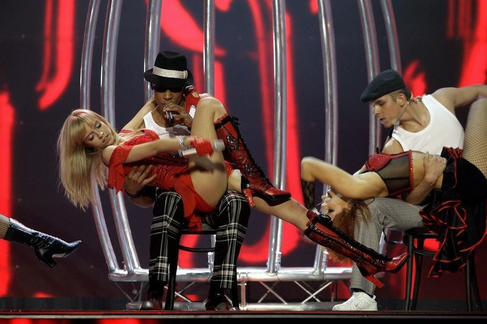Eurowizja 2007: The Jet Set - 14. miejsce w półfinale (zdjęcie pochodzi z próby przed Konkursem Eurowizji)