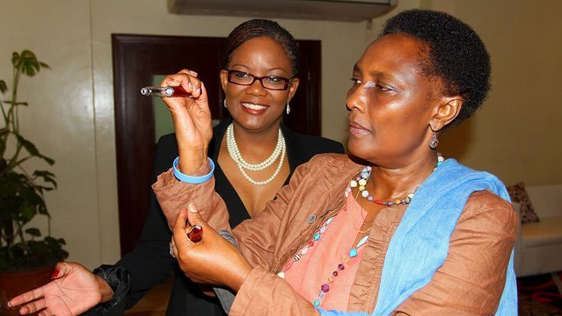 Dr Eva Njenga  (R) with another doctor at a past event.