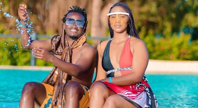 Singer Bahati and Diana Marua