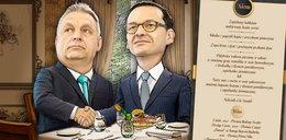 Tak Orban ugościł Morawieckiego. Na stole same frykasy