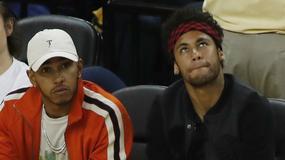 Neymar i Hamilton na meczu Golden State Warriors - Cleveland Cavaliers