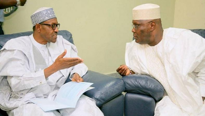 President Muhammadu Buhari with former vice president, Atiku Abubakar