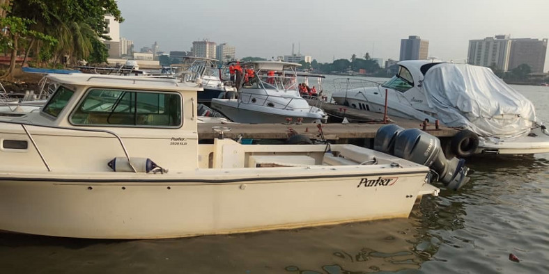 Other private boats at the Paradise Jetty, Victoria Island