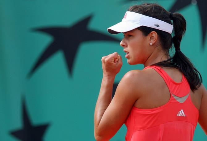 Ana Ivanović na Rolan Garosu 2008. godine