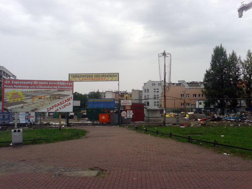 Teren po byłym targowisku Zielińskiego we Wrocławiu