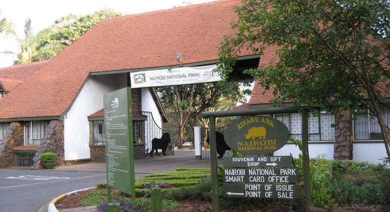 File image of the entrance to Nairobi National Park (Photo: Courtesy)