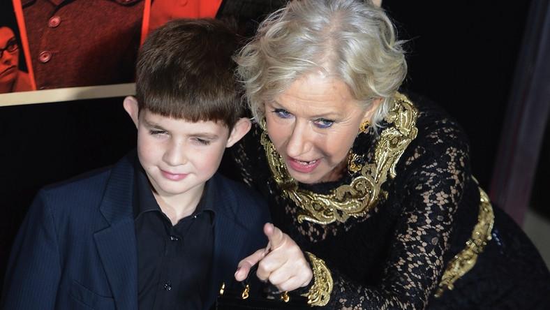 """Helen Mirren z wnukiem Feliksem na premierze """"Hitchcocka"""""""