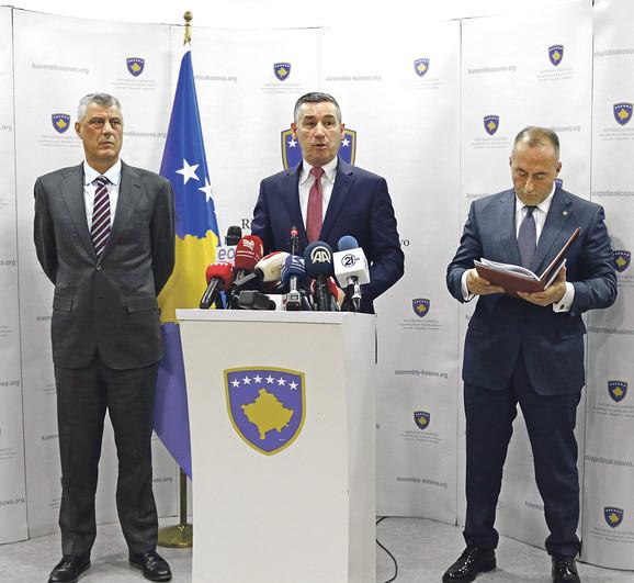 Hašim Tači, Kadri Veselji i Ramuš Haradinaj