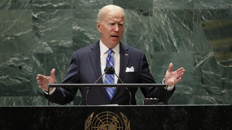 Joe Biden przemawia w ONZ