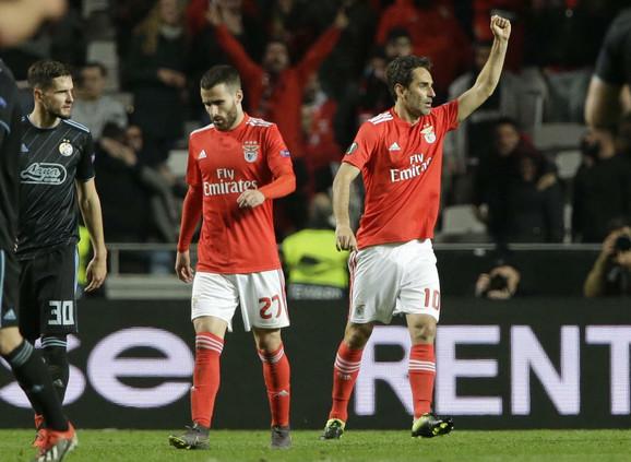 Fudbaleri Benfike slave trijumf nad Dinamom iz Zagreba
