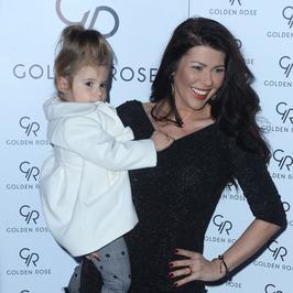 Iwona Węgrowska z córką i inne gwiazdy na prezentacji kosmetyków