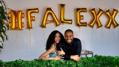 'This is the last birthday you will bear this surname' - Alexx Ekubo says as he celebrates fiancee on her birthday