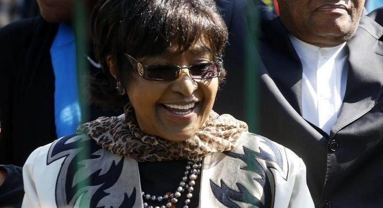 Winnie Madikizela-Mandela in Pretoria, in this July 18, 2013 file photo.