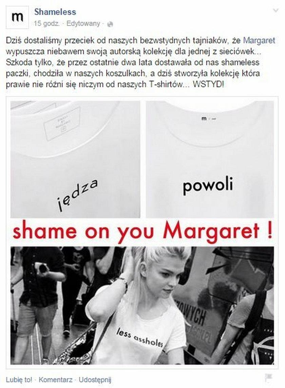Margaret została oskarżona o plagiat